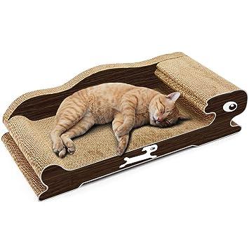 WLDOCA Rascador para Gatos con Hierba Gatera (60 * 28 * 16Cm): Amazon.es: Deportes y aire libre
