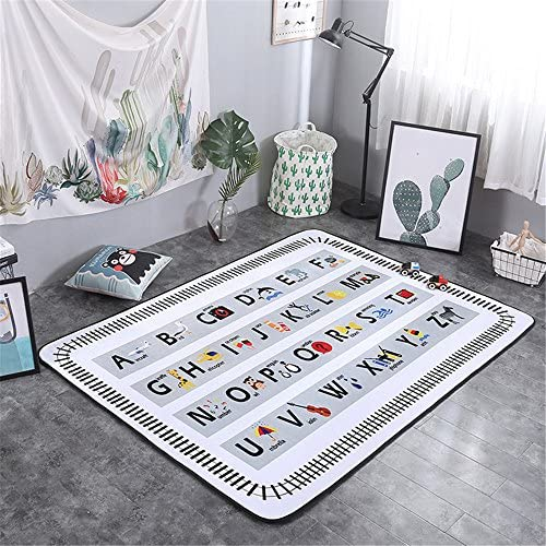 Baby Play Mat Thick Floor Mat Rug Activity Gym for Crawling Unique Design ABC Letters Rug Extra Large Non Toxic Safe Game Mat Great Baby Shower Gift by Cusphorn