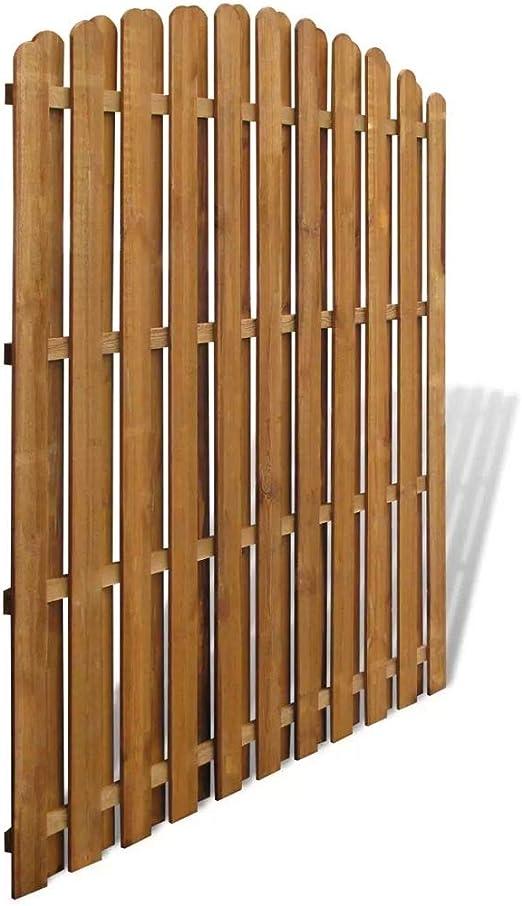 Tidyard Panel de Valla de jardín de Madera jardineras de Madera cercado Jardin Jardinera Madera de Pino 180x(165-180) cm: Amazon.es: Jardín