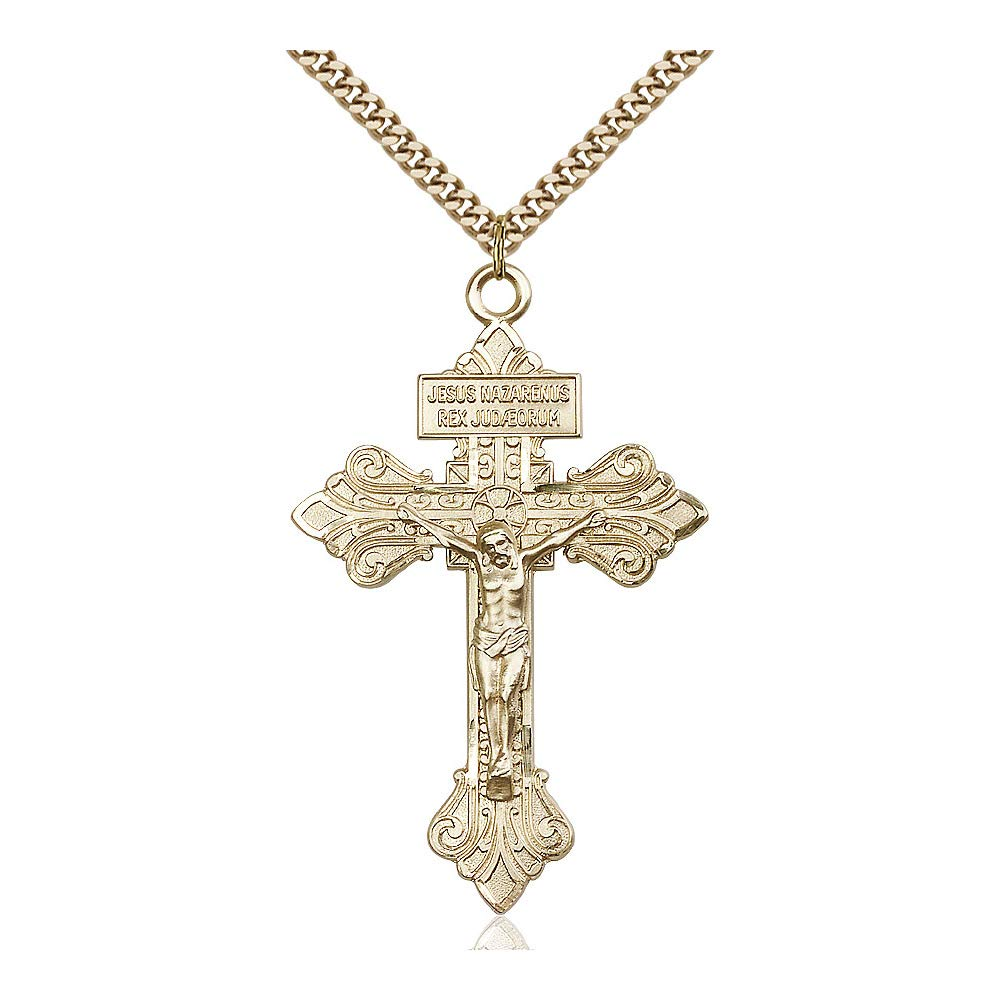 DiamondJewelryNY 14kt Gold Filled Crucifix Pendant