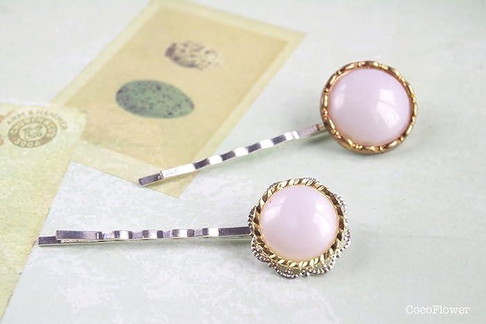 barrette perle cheveux bouton perlé nacre blanc liseret doré accessoire  coiffure mariage cocktail fillançaille élégant pour