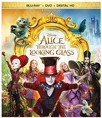 Alice Through the Looking Glass (BD + DVD + Digital HD) - 3d Glasses Movie With