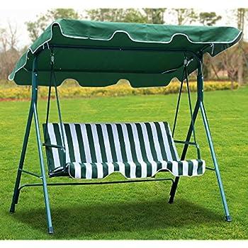Amazon Com Yaheetech Green Patio Outdoor Swing Canopy