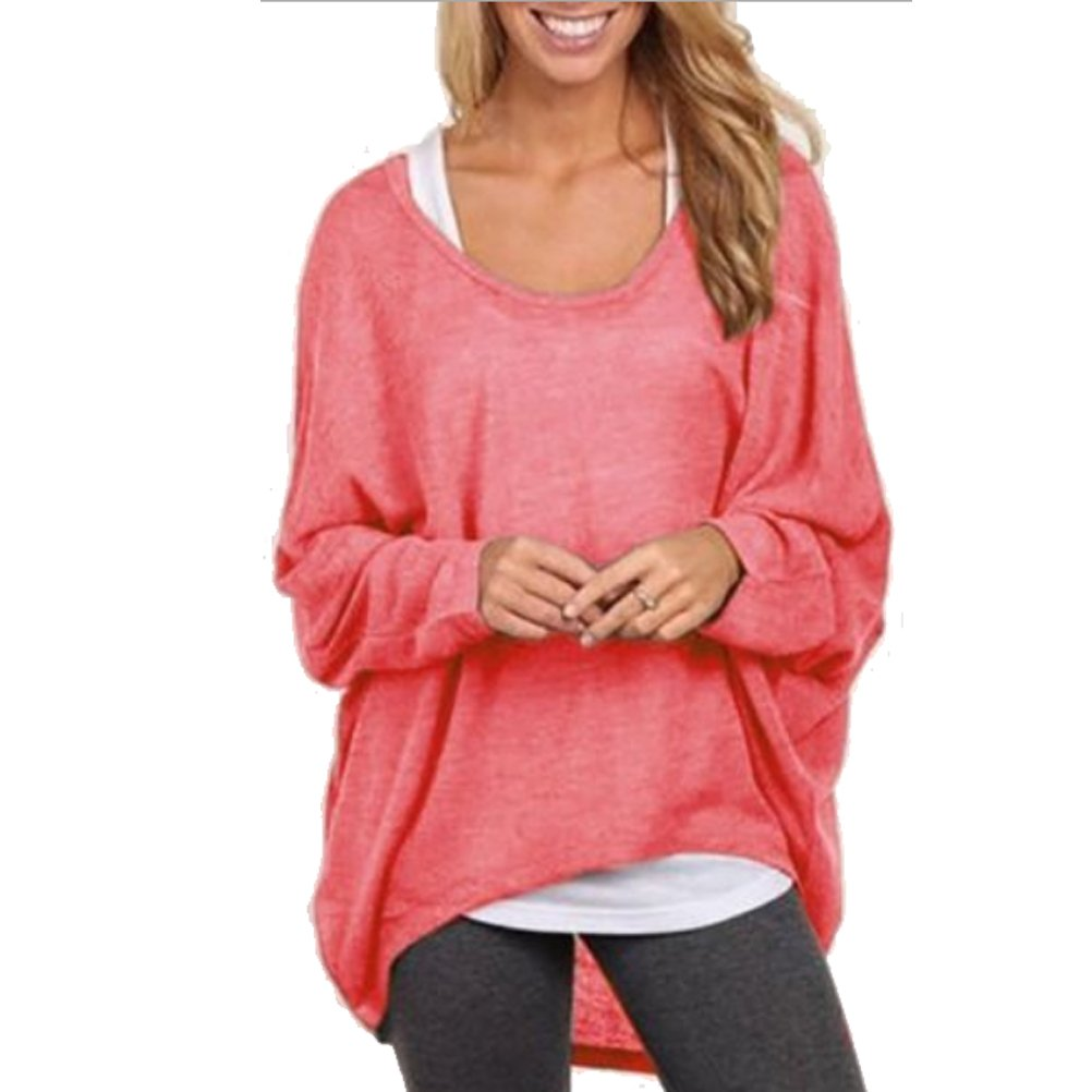 Women's Casual Oversized Long Batwing Sleeve Baggy Shirt Pullover Blouse Tops fashion story SPB10050