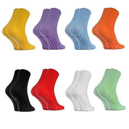 8 pares de Calcetines Antideslizantes, SIN ELÁSTICOS para Diabéticos, Colores Claros talla 42-