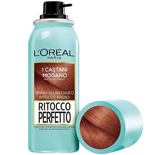 263 opinioni per L'Oréal Paris Ritocco Perfetto Spray Istantaneo Ritocco Radici, 6 Castano Mogano