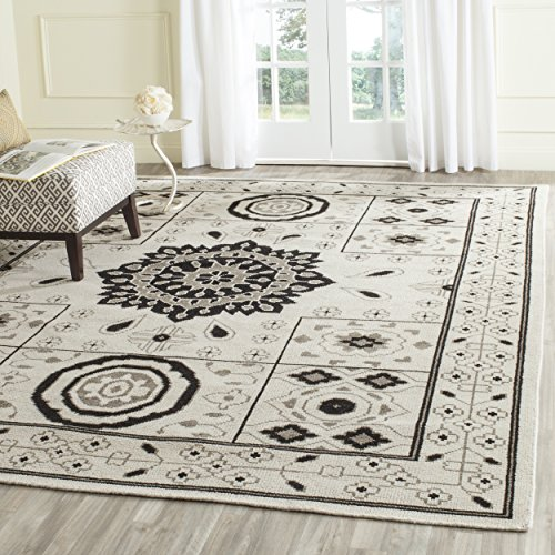 (Safavieh Kenya Collection KNY625A Handmade Ivory and Grey Premium Wool Area Rug (9' x 12'))