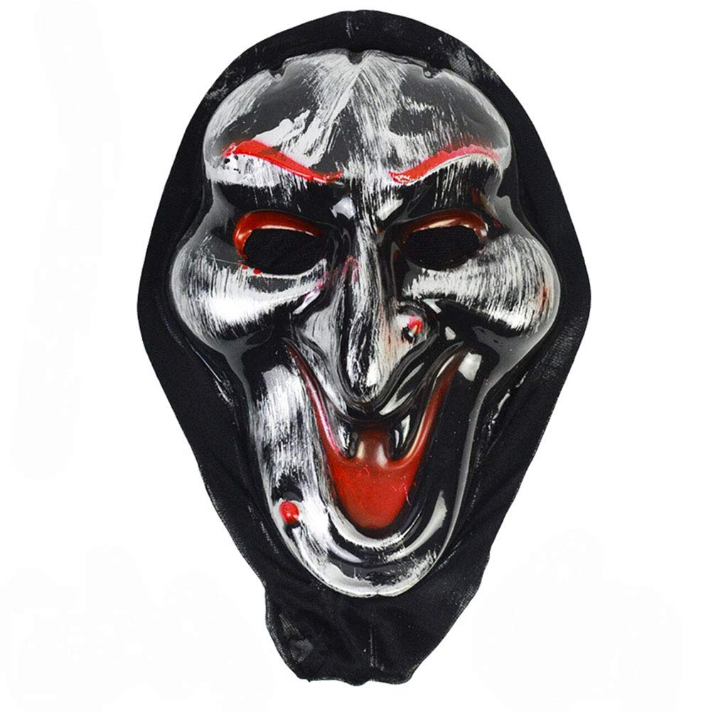 FYT 2 Pcs Halloween Horror mask Scary Costume Witch Silver