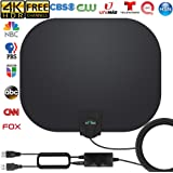 TV Antenna - Amplified HD Indoor Digital TV Antenna Long 250 Miles Range Antenna Support 4K 1080p Fire Stick and All Televisi