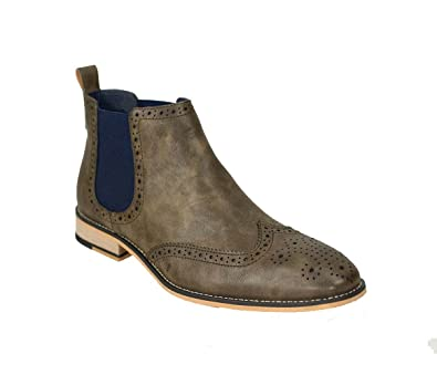 Cavani Mens Chelsea Boots Hound Leather Look Slip On Classic MOD Shoes   Amazon.co.uk  Shoes   Bags 57fb463ca94