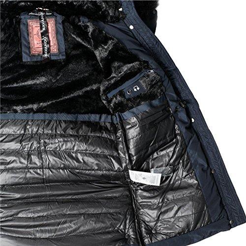 ... Navahoo Damen Jacke Wintermantel Winterparka Sesa (vegan hergestellt) 4  Farben XS-XXL Blau ... 8d6d8f5117