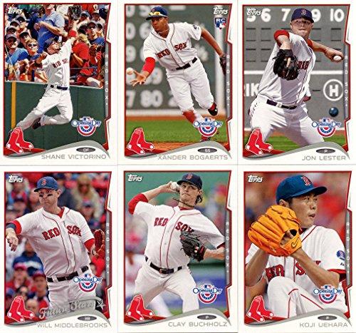 2014 Topps Boston Red Sox Opening Day Series MLB Baseball 10 Card Team Set with Dustin Pedroia, David Ortiz Plus