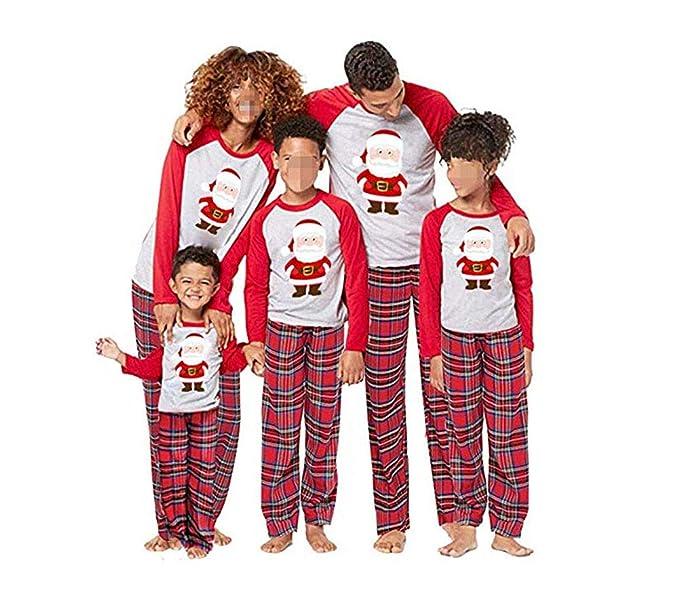 107ca307fe CHRONSTYLE Conjunto de Pijamas Familiares de Navidad