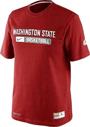 Nike Washington State Cougars Basketball Team Issued Dri-FIT Cotton Mens T- Shirt (