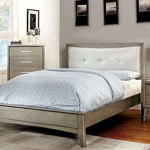 New bedroom furniture modern platform bed contemporary mid - King size bedroom set with mirror headboard ...