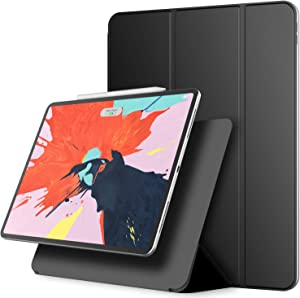 JETech Magnetic Case for iPad Pro 12.9 Inch 2018 Model (NOT for 2020 Model), Support Pencil 2nd Generation Charging, Magnetic Attachment, Cover with Auto Wake/Sleep