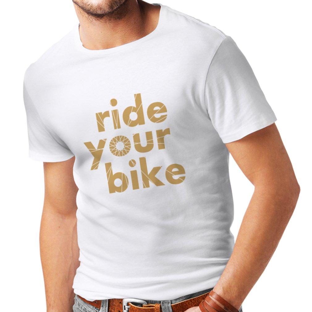 lepni.me Mens T-Shirt Ride Your Bike Biker Cycling Funny Cyclist Gift