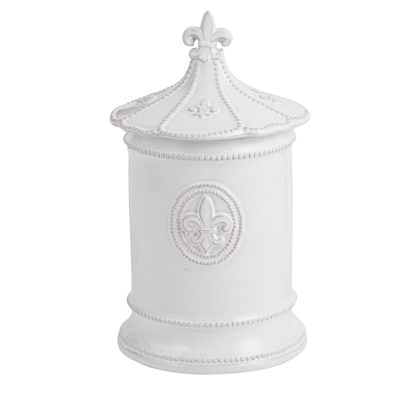 Mud Pie ceramic Coffee Canister Door Knob Handle, White 4931006