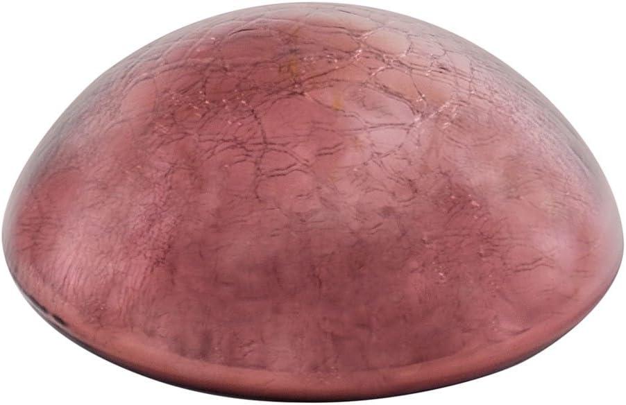 Achla Designs Glass Toadstool Mushroom Gazing Ball, Plum