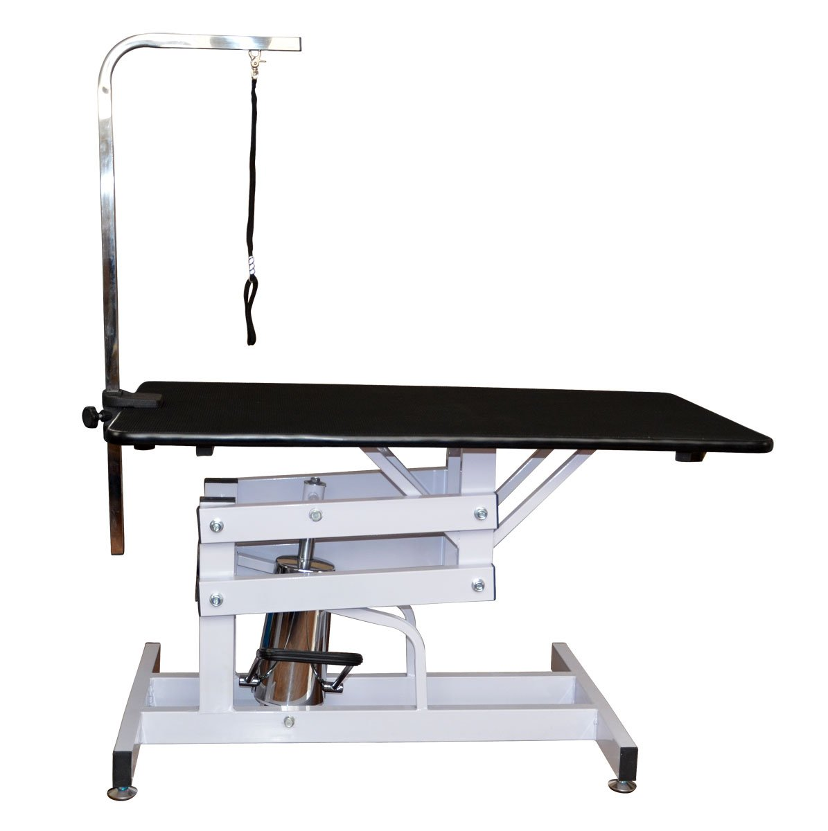 PawHut 140108-001 Deluxe Professional Z-Lift Hydraulic Pet Dog Grooming Table with Arm Noose