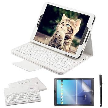 REAL-EAGLE Galaxy Tab S2 9.7 Teclado Funda(QWERTY), Funda de Cuero
