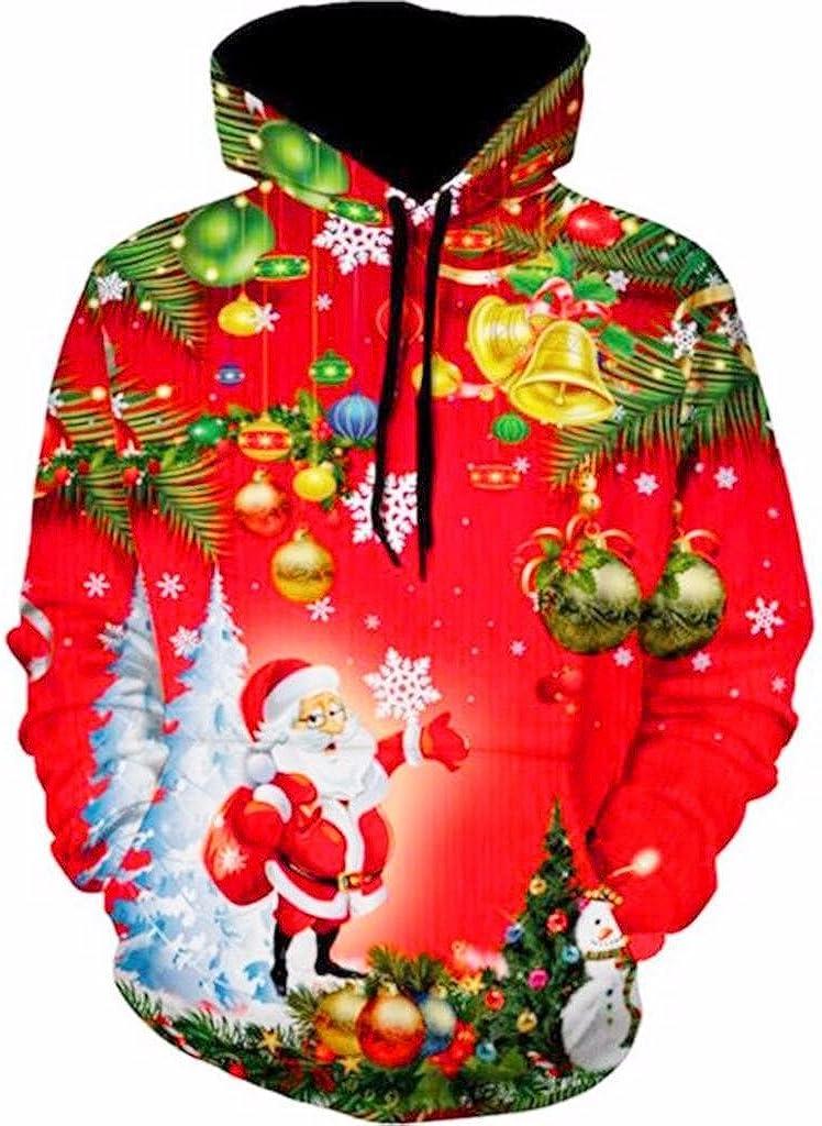 Christmas Couples Hoodie 3D Cat Tree Printed Mens Womens Sweatshirt by Balakie