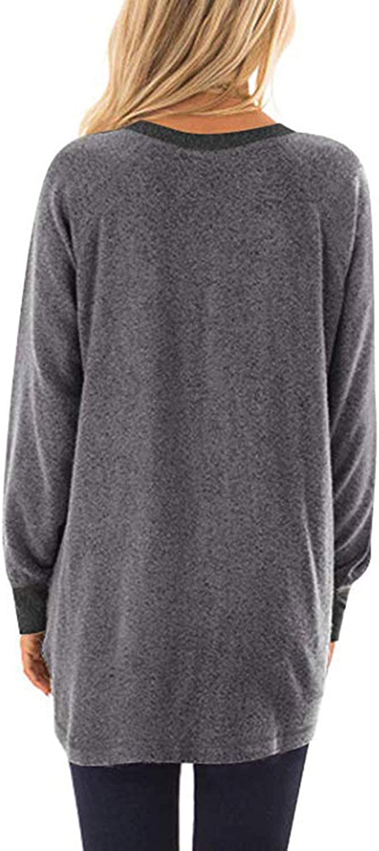 Orino Beauty Womens Soft Sweatshirts Sweaters Long Sleeve Baggy Comfy Shirts Pullovers Tops