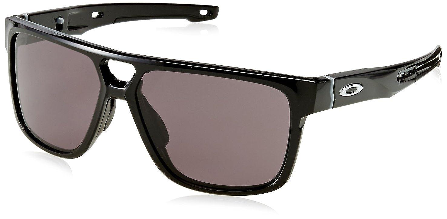 Oakley Crossrange Patch 938201 60, Gafas de Sol para Hombre, Negro (Polished Black/Warm Grey)