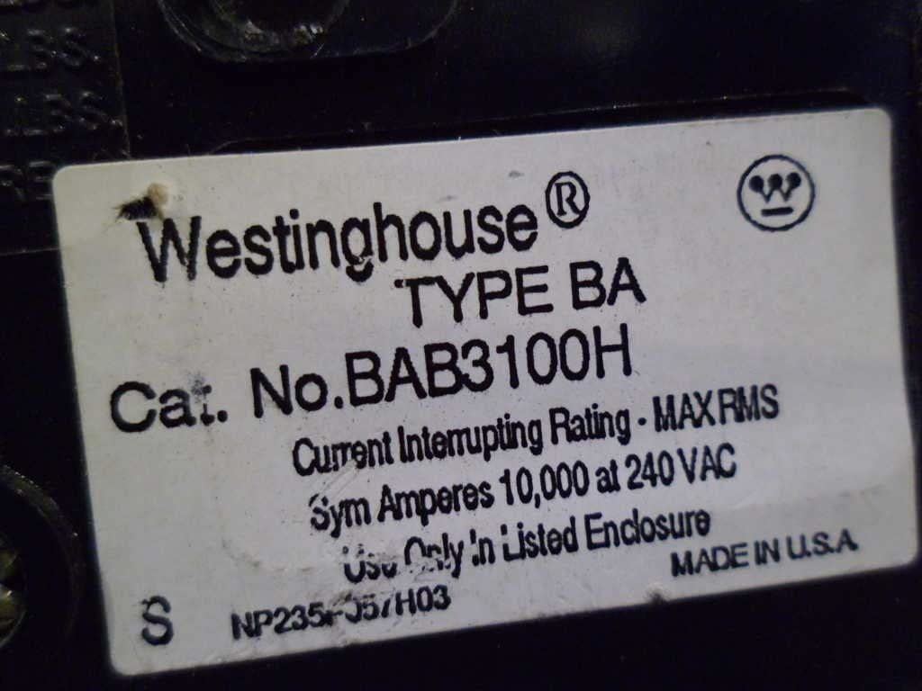 Westinghouse BA Circuit Breakers Bolt-On all of them... Cutler Hammer BAB