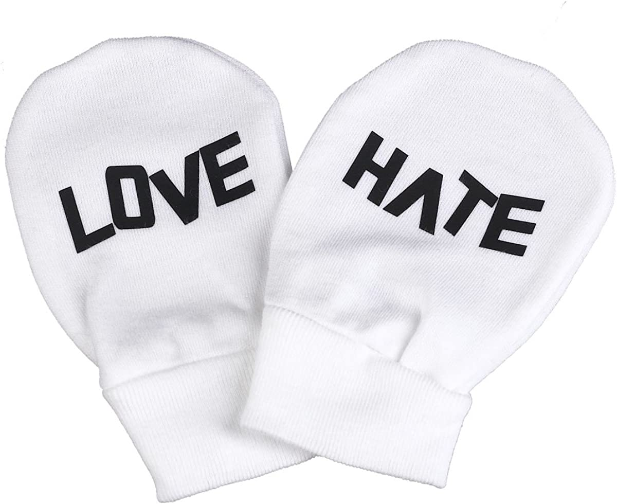 Spoilt Rotten - Love And Hate 100% Organic Cotton Scratch Mittens