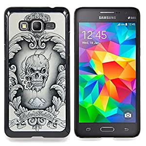 - Skull Crown King Wreath Heart Vintage - - Snap-On Rugged Hard Cover Case Funny HouseFOR Samsung Galaxy Grand Prime G530H G5308