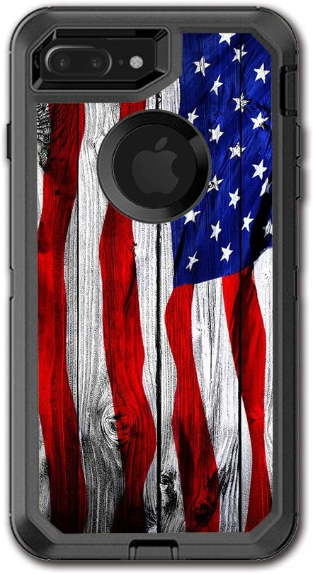 Skin Decal for Otterbox Defender iPhone 7 PLUS Case USA Bald Eagle in Flag