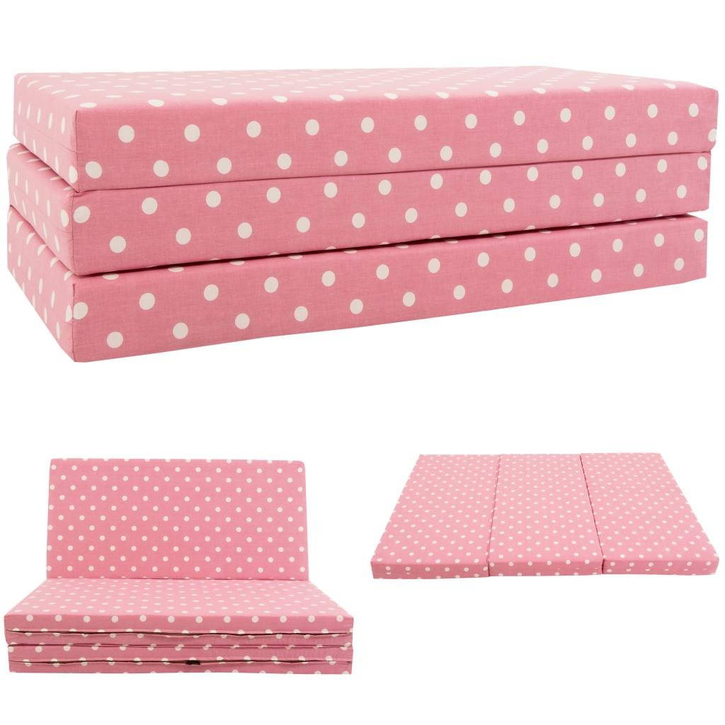 KIDS SOFABED   PINK SPOTS Kids Folding Sofa Bed Futon Guest Z Bed  Childrens: Amazon.co.uk: Kitchen U0026 Home
