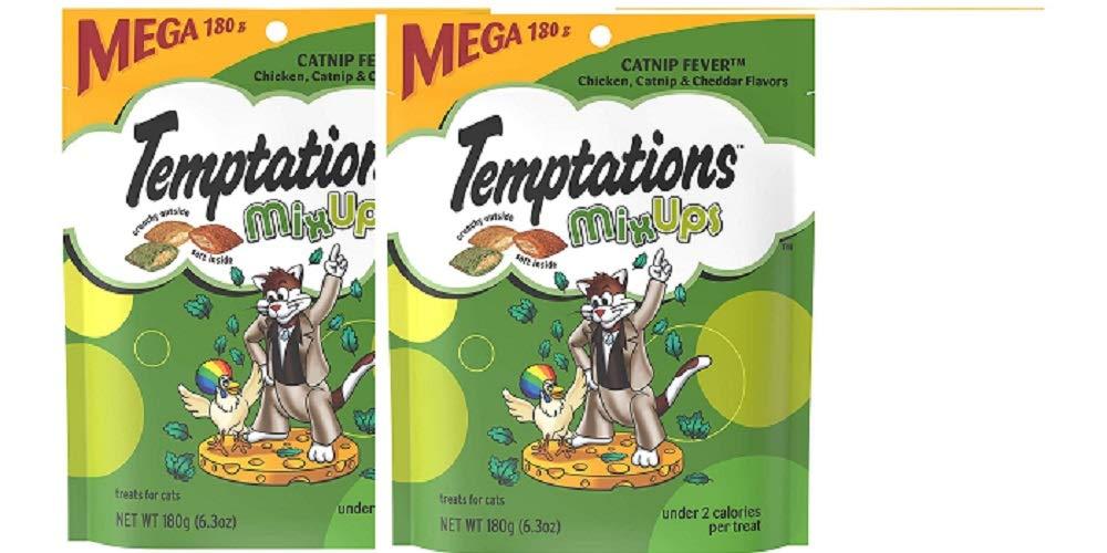Temptations Mixups Cat Treats Catnip Fever Flavor 6.3 oz (Pack of 2)