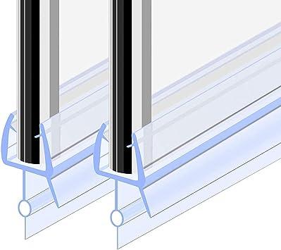 Goldge Junta para mampara de ducha | Junta de goma de repuesto Fabricado en PVC Duro y PVC Suave Ajustable Usar a el Cristal de 6 mm: Amazon.es: Bricolaje y herramientas