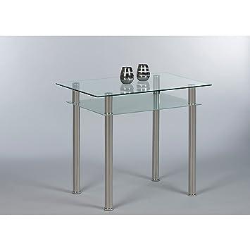 Küchentisch Esstisch Tommy kleiner Tisch Glastisch 90 x 60 cm mit ...