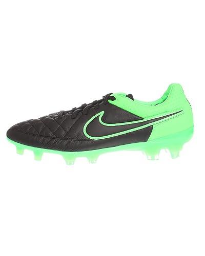pretty nice 9afab 36e25 Nike Tiempo Legend V FG Men s Soccer Cleats (Black Black-Grn Strk-