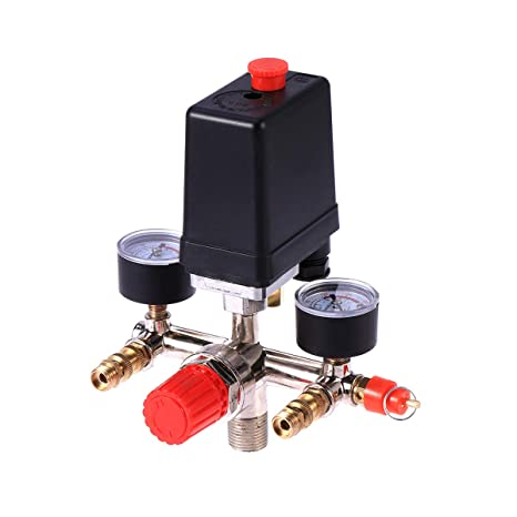 Vosarea Compresor de Aire Control de Interruptor de presión de Bomba con regulador de válvula