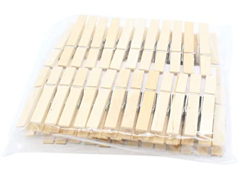 Amazon.com: RIVERKING - 50 pinzas resistentes naturales para ...