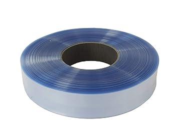 4m Akku Schrumpfschlauch 6,5mm Flachmaß = 4,1mm Ø blau