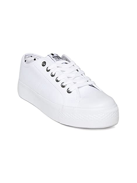Bata Women White Casual Shoes