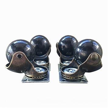 ktroman - Rueda giratoria para Rueda de Escritorio (4 Unidades, 40 mm), diseño de Bola de Oro Envejecido: Amazon.es: Hogar