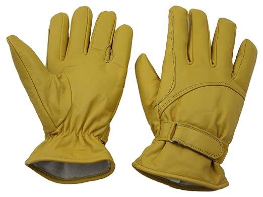 XXL gefüttert Lederhandschuhe Cowboy Western gelb Leder Handschuhe Gr