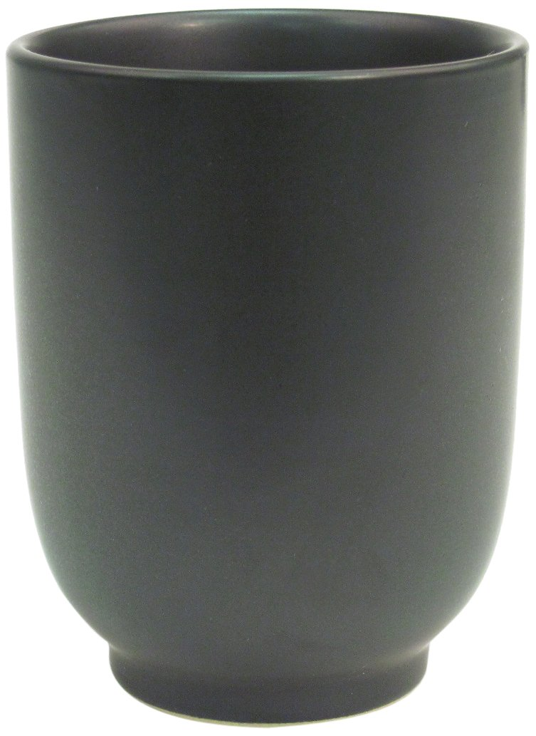 CAC China 666-1-BK Japanese Style 2-3/4-Inch Non Glare Glaze Black Cup, 8-Ounce, Box of 36