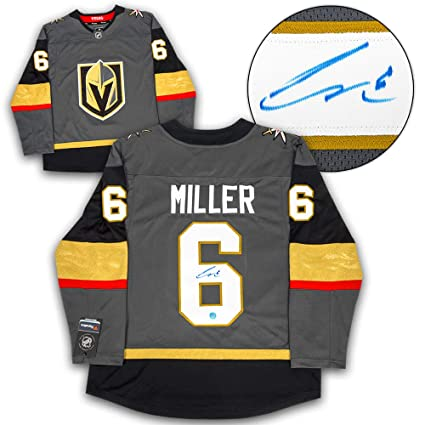 Image Unavailable. Image not available for. Color  Colin Miller Vegas Golden  Knights Autographed Autograph Fanatics Replica Hockey Jersey ... ead31cc63