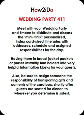 wedding responsibility cards