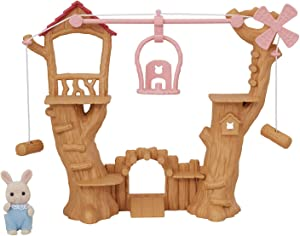 Calico Critters Baby Ropeway Park, Collectible Dollhouse Toy with Sweetpea Rabbit Figure Included