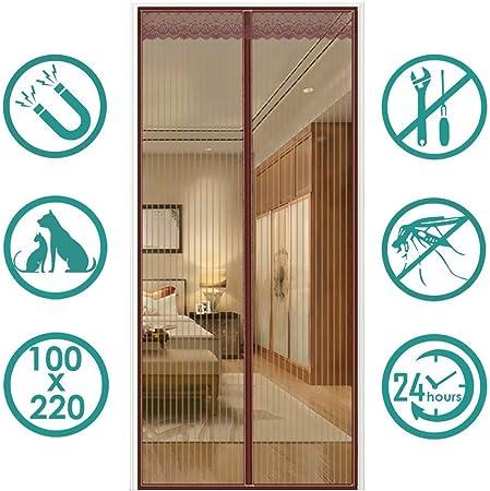 80x230cm Anti Insecte Mouche Moustique Rideau Anti Mouche Porte Fermeture Automatique pour Couloirs Portes Patio AMZERO Moustiquaire Porte Magn/éTique Blanc