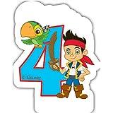 Partido Ênico Yo Ho Disney Jake y los Piratas de Nunca Jamás cuarto cumpleaños Vela