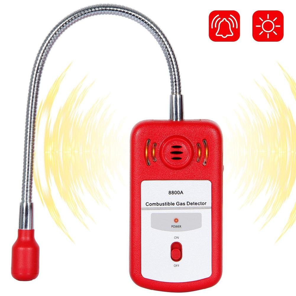 ExGizmo Gas Leak Detector, Portable Combustible Gas Tester Sniffer for Home Natural Gas Methane and Propane with Audible & Visual Alarm Sensor Voice Light,Red